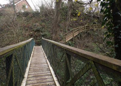 Holford Glen Footbridge Refurbished April 2016