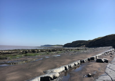 Kilve beach from the West