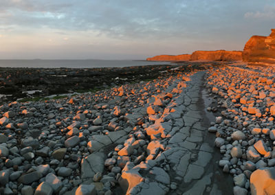 Sunset on Kilve beach 1
