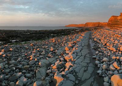 Sunset on Kilve beach 1