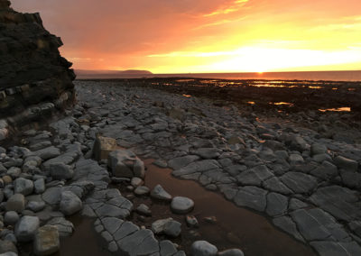 Sunset on Kilve beach 2